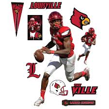 Fathead Lamar Jackson Louisville Cardinals 11 Pack Life Size Removable Wall Decal