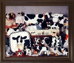 Holstein Cow Toys Collection Farm Animal Kids Room Wall Decor Brown Rust Fram Ebay