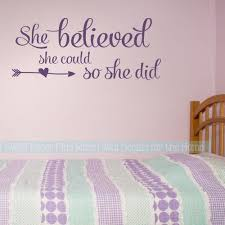 Girls Room Wall Art Decal Stickers