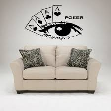 Casino Wall Sticker Gambling Decal Gamble Poker Posters Vinyl Wall Decals Home Decoration Decor Mural Casino Glass Decal Wall Stickers Aliexpress