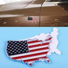 Car Truck Parts Usa American Flag 3d Metal Car Truck Fender Skirt Sticker Emblem Badge Decal Athletes Usa De