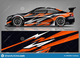 Car Decal Wrap Design Vector Graphic Abstract Stripe Racing Background Kit Designs For Vehicle Race Car Rally Adventure And Li Stock Illustration Illustration Of Decal Corporate 143649460