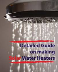 guide on making solar water heaters