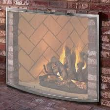 curved pewter fireplace screen