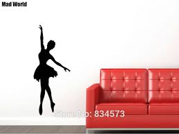 Mad World Giant Girl Ballerina Silhouette Wall Art Stickers Wall Decal Home Diy Decoration Removable Room Decor Wall Stickers Wall Sticker Decorative Wall Stickerswall Art Stickers Aliexpress