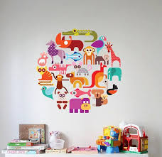 Zoo Wild Multiple Variety Of Animals In A Circle Vinyl Wall Etsy Kids Room Wall Decals Kids Wall Decals Vinyl Wall Decals