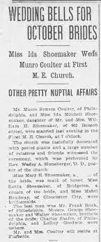 IDA MITCHELL SHOEMAKER October 15, 1903 The Morning Post Camden, New Jersey  - Newspapers.com