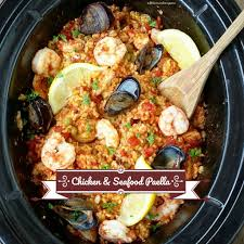 Slow Cooker Chicken & Seafood Paella ...