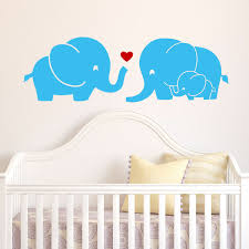 Harriet Bee Elephant Family With Red Heart Wall Decal Reviews Wayfair