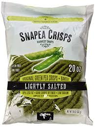 harvest snaps green pea snack crisps