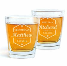 groomsmen whiskey glasses set