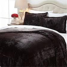 a by adrienne landau faux fur comforter