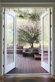 french doors open out onto deck met