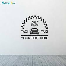 Custom Text Design Taxi Car Service Mini Cab Private Hire Business Car Decal Sign Sticker Window Decal Vehicle Stickers B571 Aliexpress