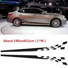 Black 2x Custom Text Side Body Stripes Racing Race Jdm Car Vinyl Sticker Decal Ebay