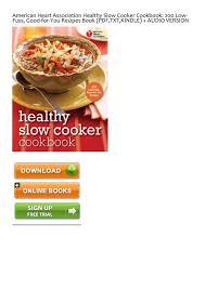 healthy slow cooker