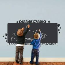 Alphabet Chalkboard Kids Wall Decal Pinknbluebaby Com