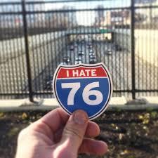 I Hate I 76 Vinyl Car Bumper Sticker Philadelphia Sticker Etsy