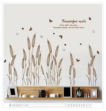 Abstract Reed Grass Wall Sticker Baseboard Wall Decals For Living Room Stair Plant Wall Art Decoration Stickers Murals Wall Decals Sticker Muralgrass Wall Sticker Aliexpress