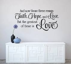 Scripture Wall Decal Faith Hope And Love Decals Bedroom Decor Corinthians 13 13 Bible Verse Vinyl Wall Stickers A185 Wall Stickers Aliexpress