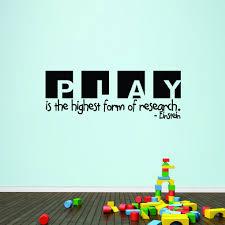 Shop Play Einstein Quote 42 X 15 Inch Children S Wall Decal Overstock 11383864