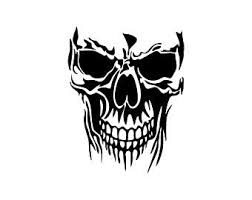 Large Skull Decal Etsy