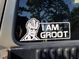 I Am Groot Vinyl Decal Groot Superhero Sticker Guardians Of Etsy