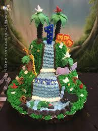 amazing homemade jungle cake with a