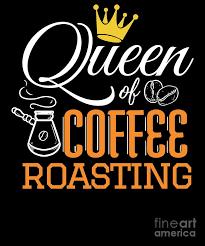 queen of coffee roasting coffee roaster cappucino digital art by