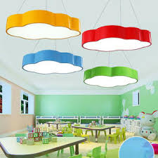 Kx Colorful Cloud Shape Modern Led Ceiling Light Pendant Lamp Kids Room Chandelier