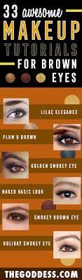 natural makeup for brown eyes step by