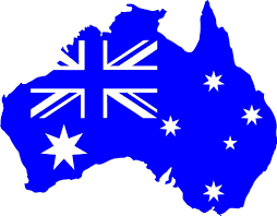 Australia With Flag And Southern Cross Car Decal Sticker Gympie Stickers