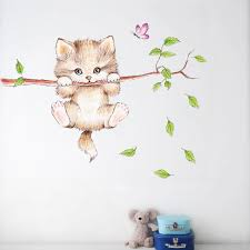 Cat Wall Sticker Cute Diy Animal Wall Decal Life Changing Products