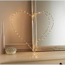light up glitz wire heart sign