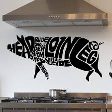 Pig Anatomy Cuts Of Pork Kitchen Wall Sticker Decal World Of Wall Stickers