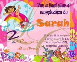 Invitaciones Infantiles De Dora La Exploradora Imagui