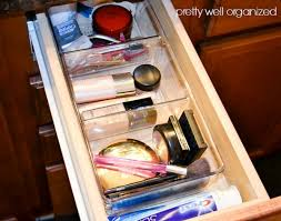 declutter and organize a makeup drawer