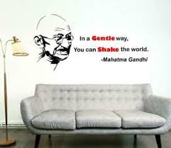 Mahatma Gandhi With Quotes Wall Sticker Quote Words Decal Vinyl Decor Mural Ebay