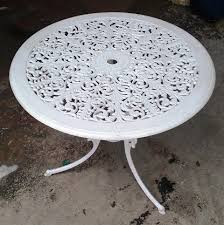 table white wrought iron outdoor small