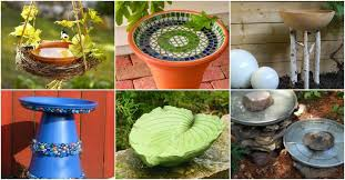 20 adorably easy diy bird baths you ll