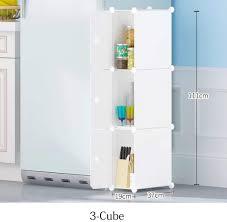 Amazon Com Lpzf Diy Portable Plastic Cube Storage Organizer Lightweight Cube Organizer Shoe Rack Storage Shelves With Doors For Bathroom Bedroom Kids Room White 3 Tier Home Kitchen