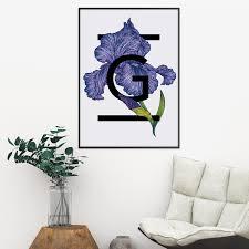 Alphabet Initial Iris Flower Print The Print Florist