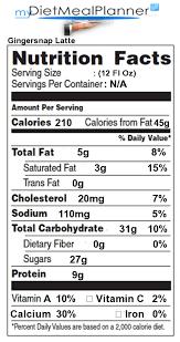 nutrition facts label beverages 13