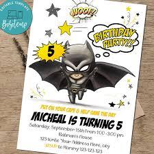 Invitacion De Cumpleanos De Nino Superheroe Batman Fiesta