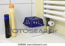 a moisture absorber in a bathroom stock