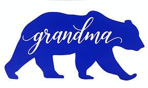 Amazon Com Custom Grandma Bear Decal Bumper Sticker For Tumblers Laptops Car Windows Grandmother Gift Handmade