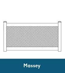 Massey Lattice Fence Shoreline Vinyl Systems