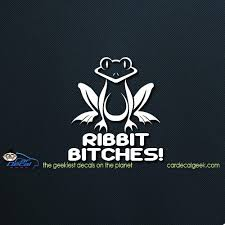 Frog Ribbit Bitches Car Window Decal Sticker Graphic