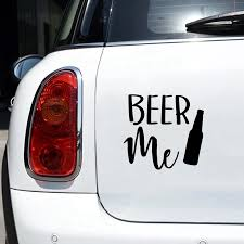 Beer Me Vinyl Sticker Decal Car Decor Funny Beer Quote Laptop Decals For Apple Macbook Air Pro Decoration Car Stickers Aliexpress