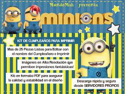 Mundomab Kit De Cumpleanos Para Imprimir Minions